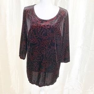 NOTATIONS WOMAN   GORGEOUS TUNIC TOP w/SPARKLE  1X